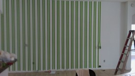 Before & After Interior Striped Walls in Maitland, FL